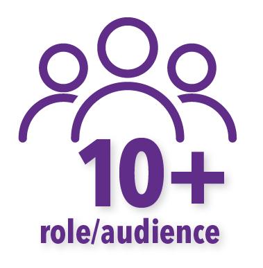 10+ role/audience